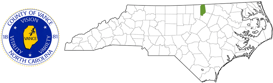 Vance County NC Map and Logo