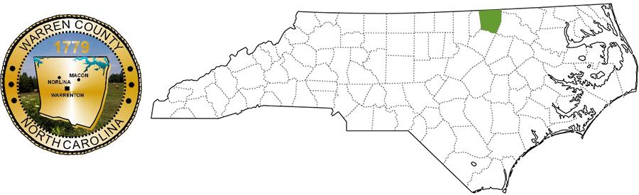 Warren County NC Map and Logo