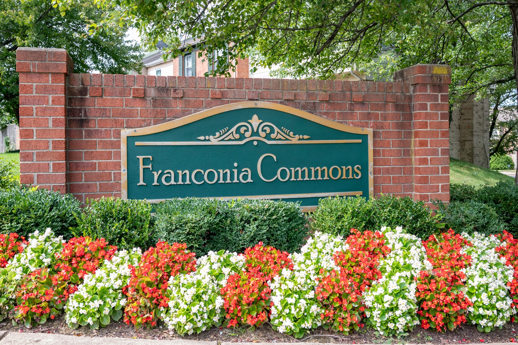 Franconia Commons announcement stone