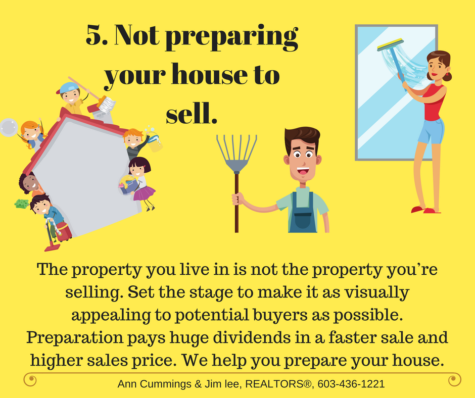 Mistake 5 Not preparing your house to sell