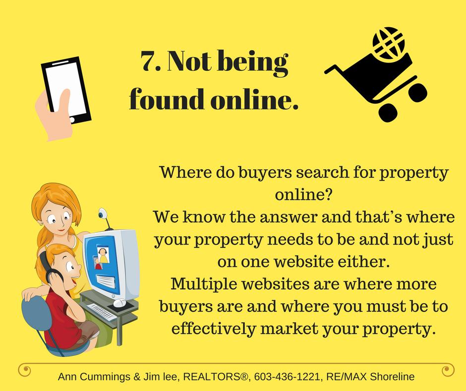 Mistake 7. Not being found online.