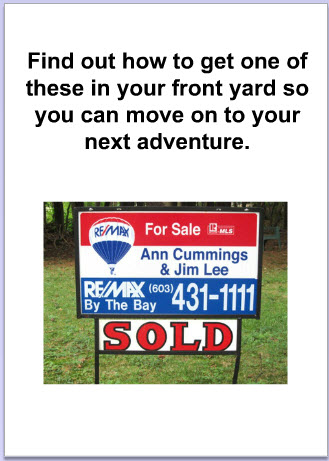card with sold sign on it telling client ann and jim can sell their home