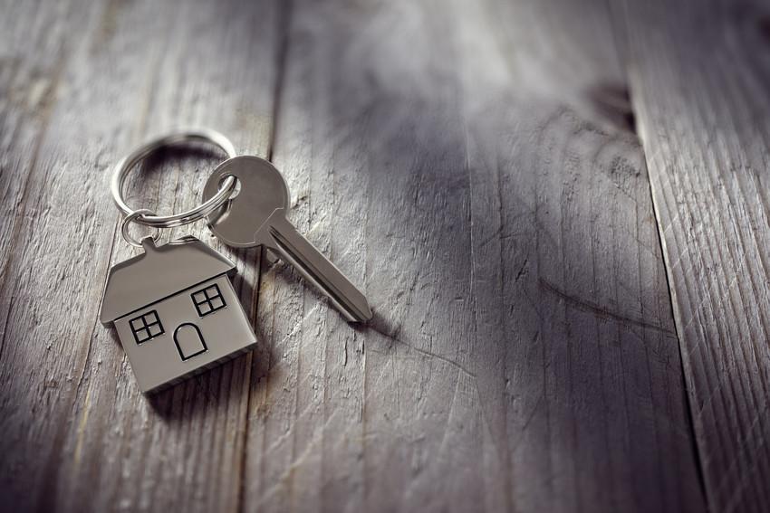 house keys on the table