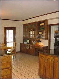 kitchen after staging