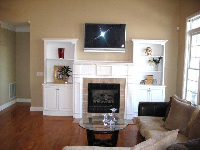 living room after staging