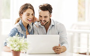 couple watching video