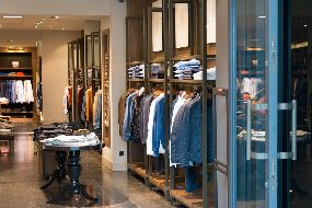 a store with suits and clothing