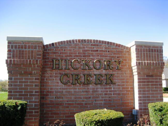 Hickory Creek condos, Northville MI. Subdivision entrance.