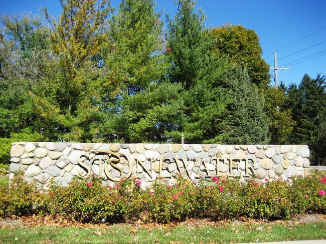 Stonewater Northville MI subdivision entrance