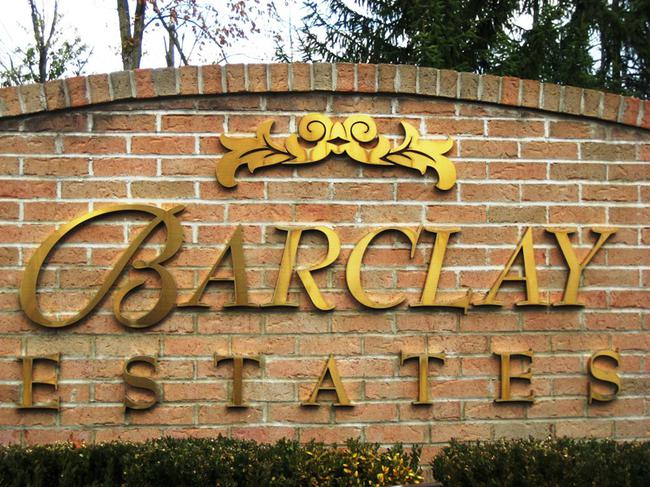 Barclay Estates, Novi Michigan Real Estate Subdivision entrance.