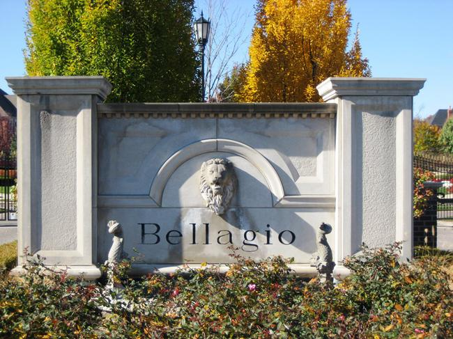 Bellagio Subdivision, Novi Michigan subdivision entrance.