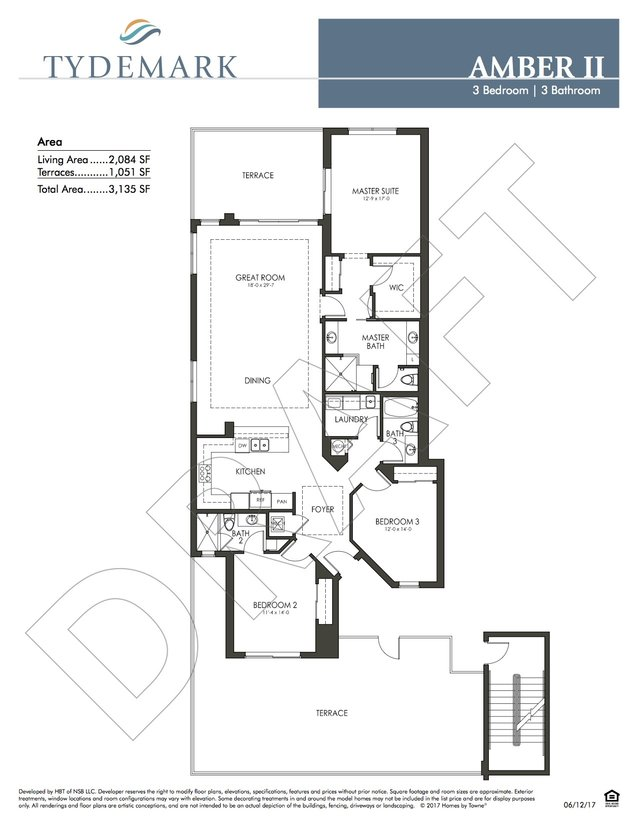 layout for Amber II floor plan in Tydemark
