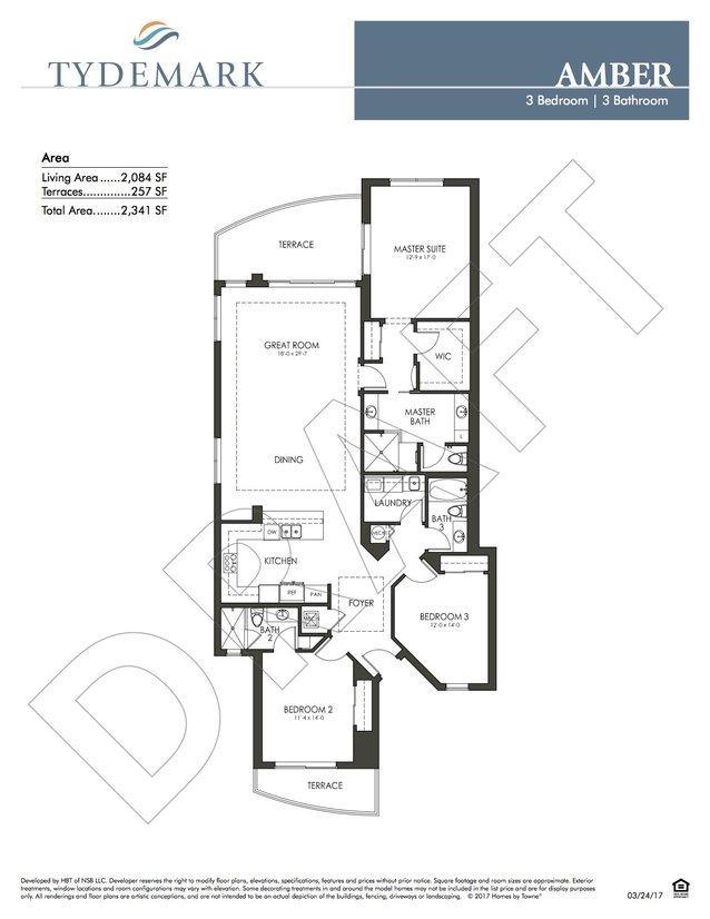 layout for Amber floor plan in Tydemark