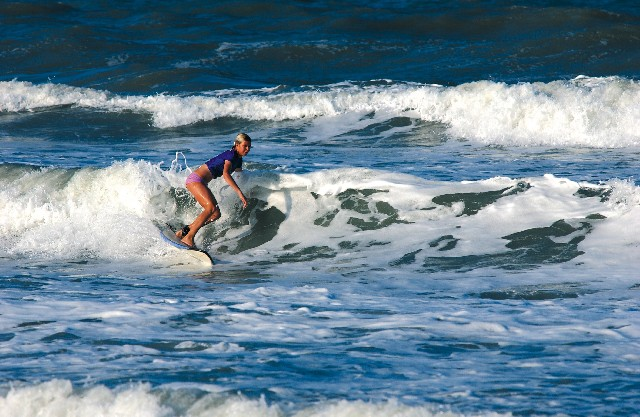 surfer on ocean wave