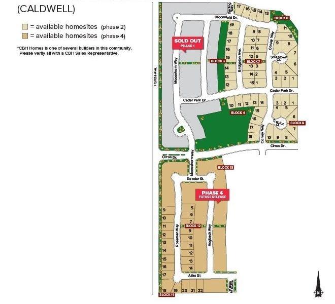 Cedar Crossing Plat Map