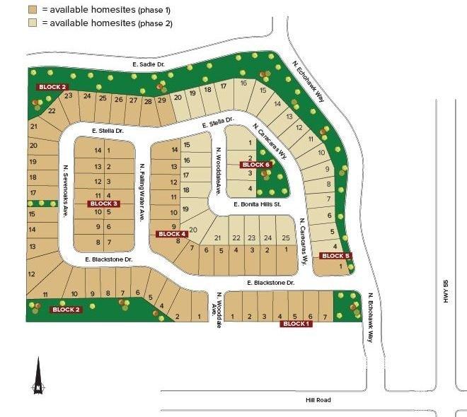 Cedarfield Eagle Plat Map
