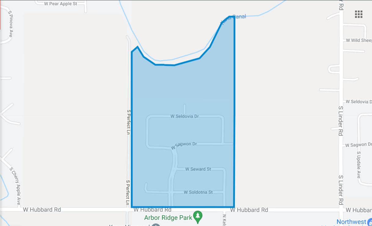 Denali Heights Plat Map