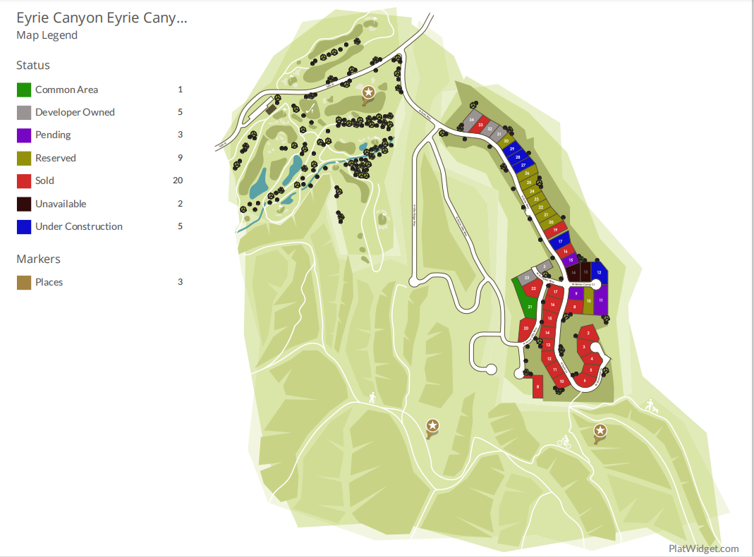 Eyrie Canyon Plat Map