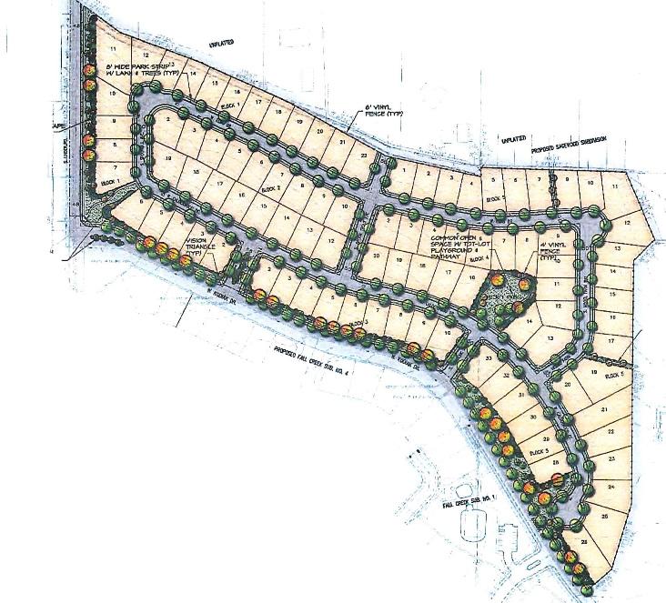 Fall Creek Meridian Plat Map