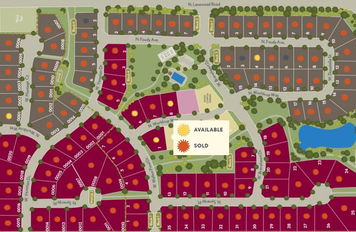 Lilac Springs Plat Map