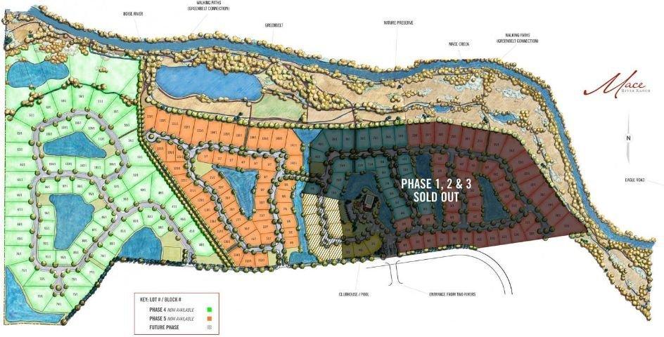 Mace River Ranch Plat Map