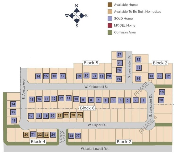 Meadowcrest Plat Map
