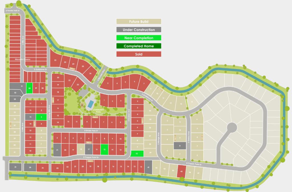 Movado Estates Plat Map