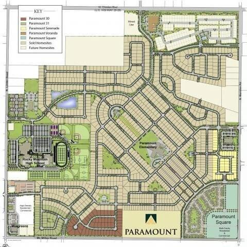 Paramount Plat Map