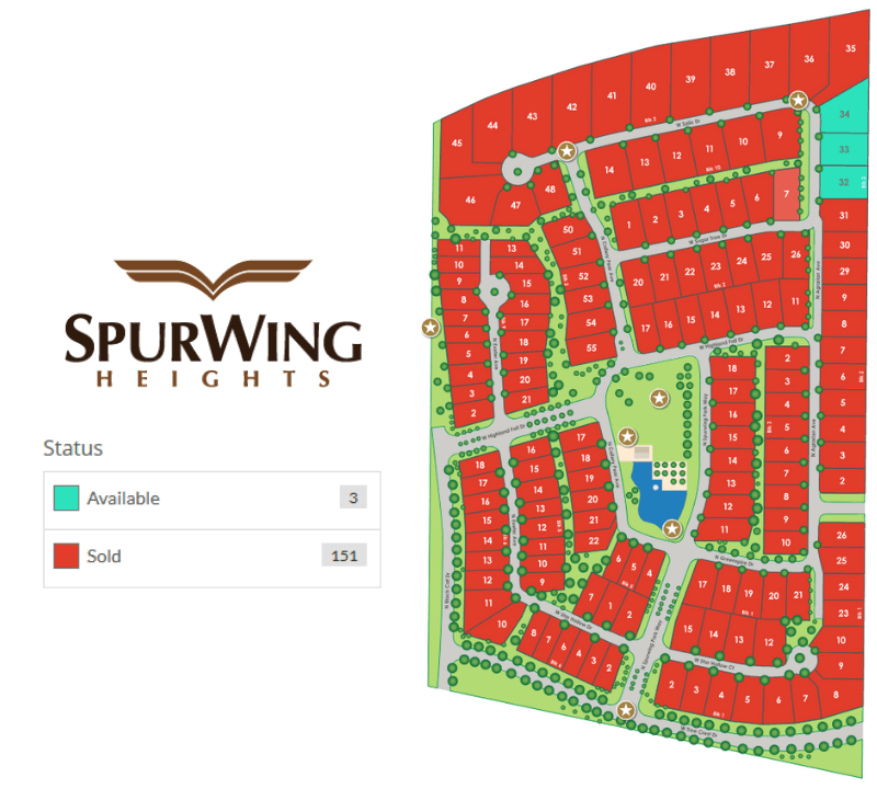 SpurWing Heights Plat Map