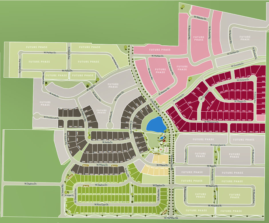 The Oaks North Plat Map