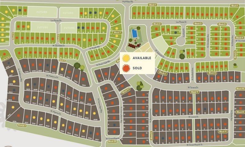 The Oaks Plat Map
