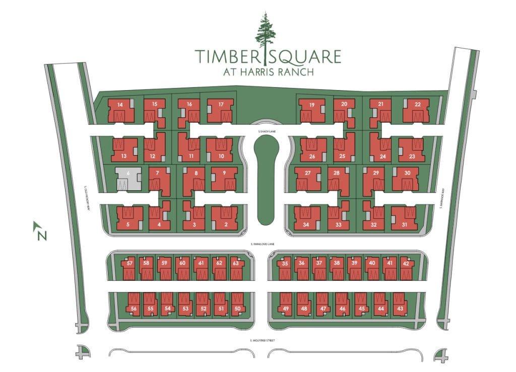 Timber Square at Harris Ranch Plat Map