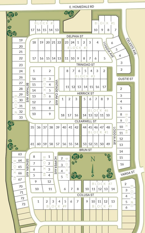 Windsor Creek Plat Map