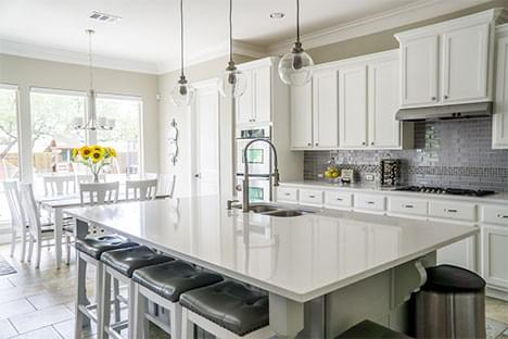 light-filled open kitch