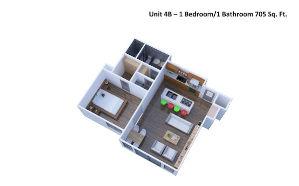 3D view of unit 4B