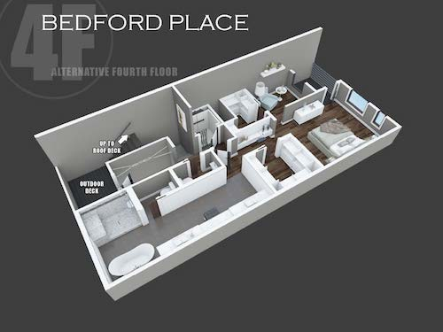 Bedford Place alternative fourth floor layout