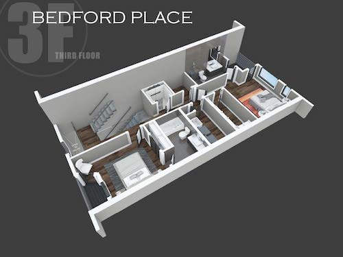 Bedford Place third floor layout