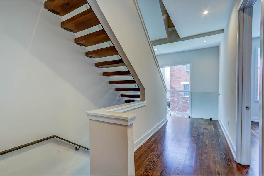 luxury wooden staircase