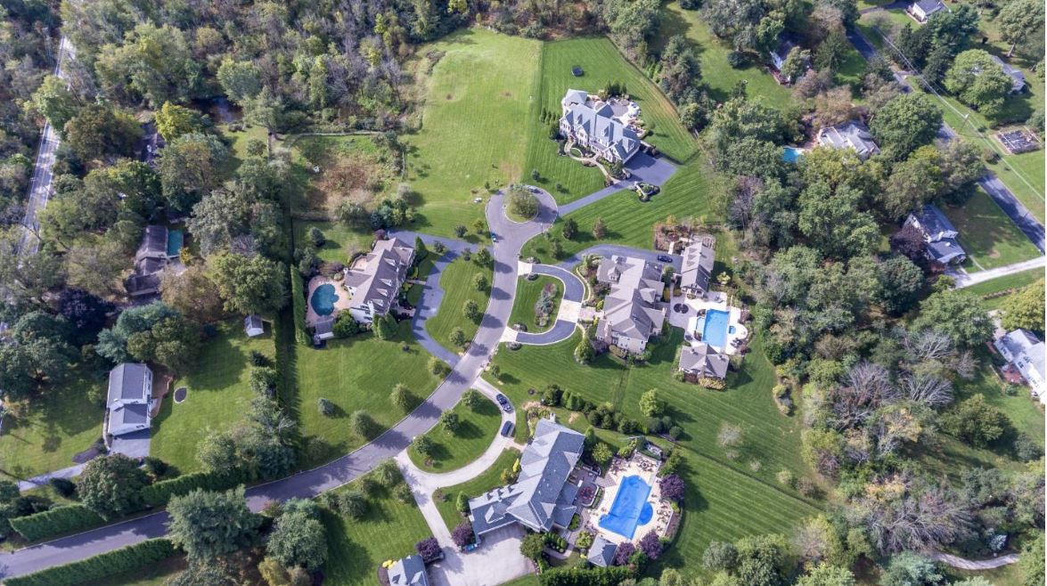 aerial view of estates