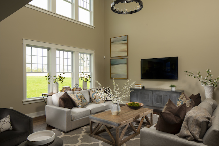 Beautifully staged living room