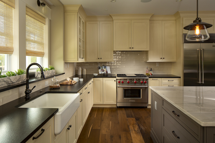 Inside view of open concept kitchen