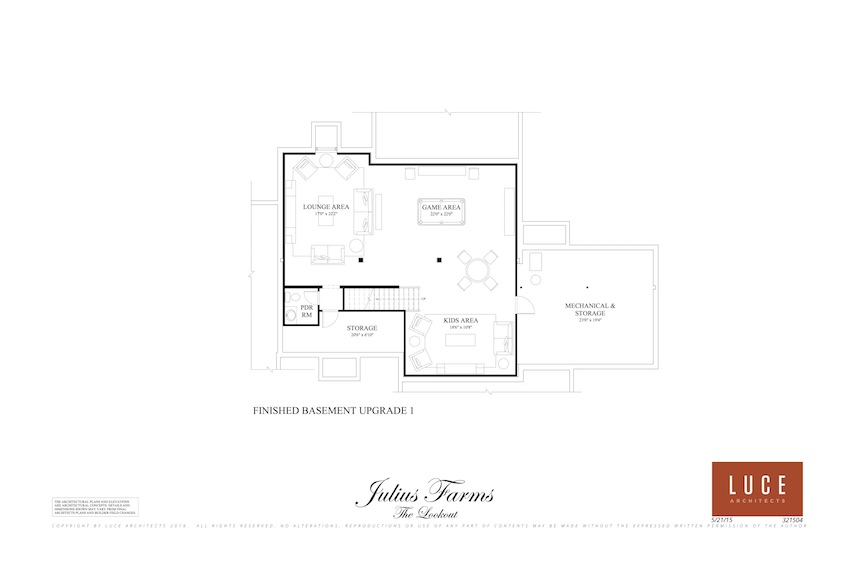 look out lower level basement option one floorplan