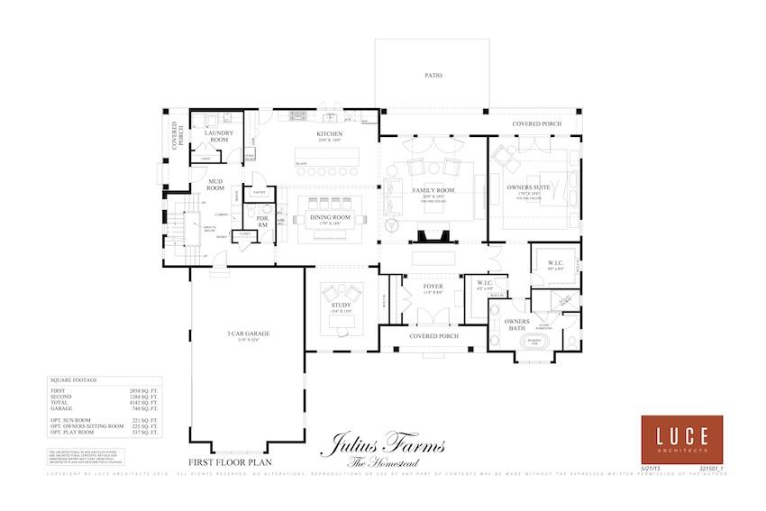 homestead first level base floorplan