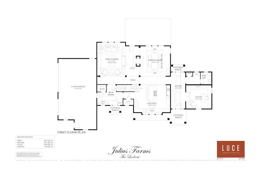 lookout first level base floorplan