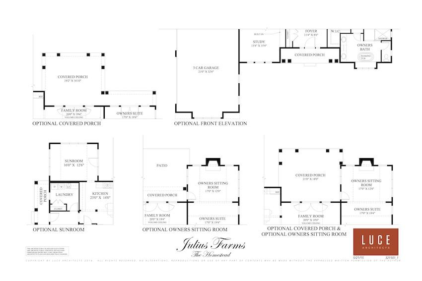 Homestead first level option upgrade floorplan