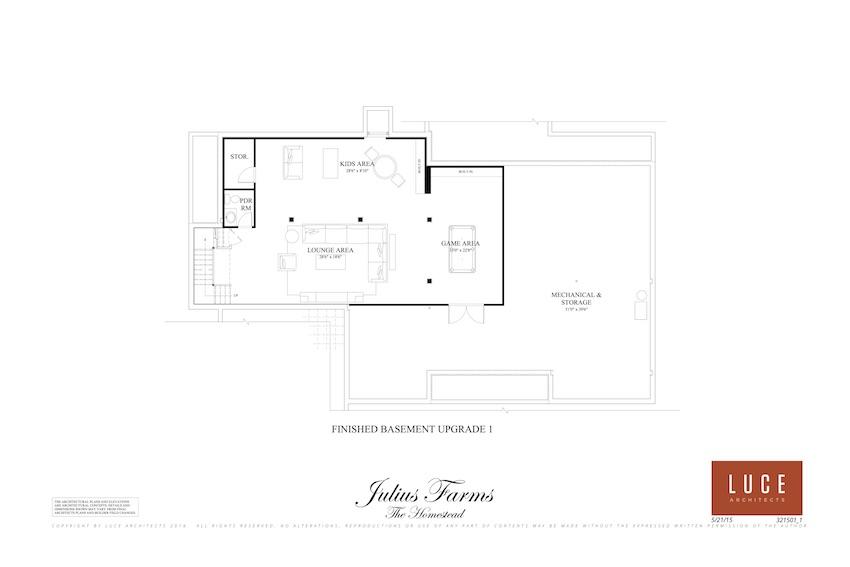 homestead lower level option one floorplan