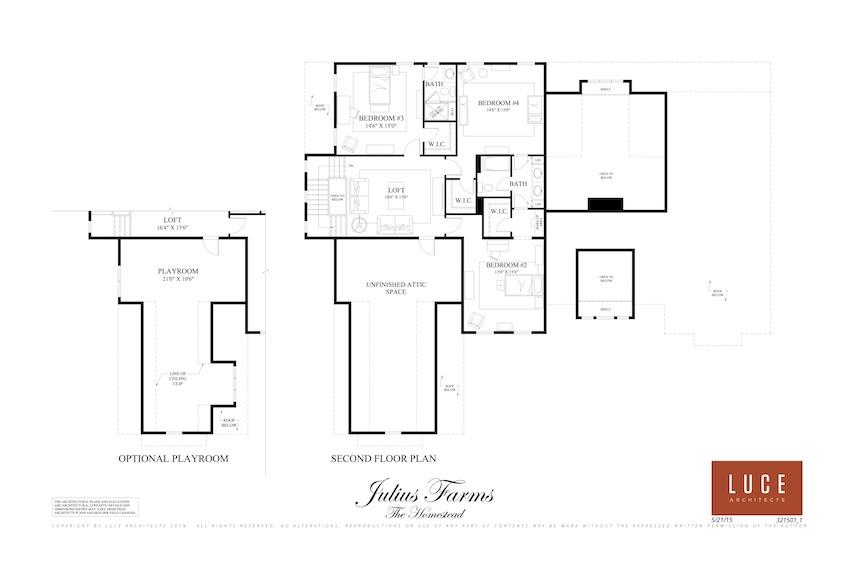 homestead second level base floorplan