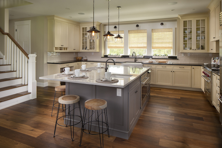 Large open kitchen with huge island
