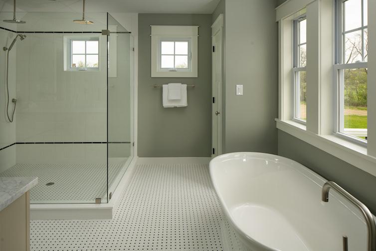 Large open master bathroom