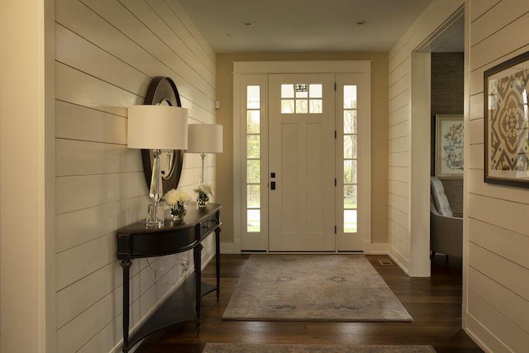 View of front door entry way from inside the house